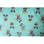 *FN02429* Lycra Knit: Mickey with green stripes